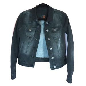 G BY GUESS | FADED BLACK JEAN JACKET